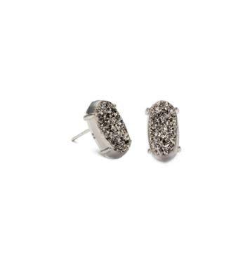 Kendra Scott Betty Earring Platinum Drusy Rhodium