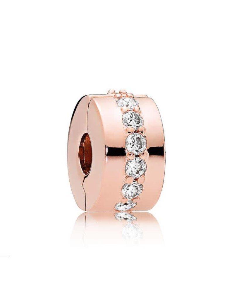 Pandora Jewelry Clip ROSE Shining Path, Clear