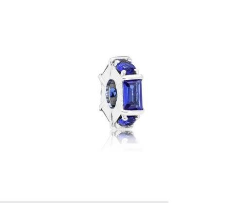 Pandora Jewelry Spacer Ice Sculpture, Blue Crystal