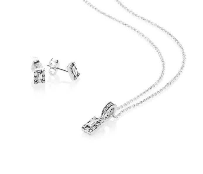 Pandora Jewelry Gift Set Necklace Luminous Ice