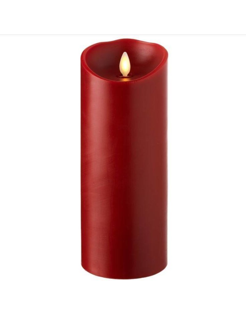 """3.5"""" x 9"""" Pillar Candle Red"""