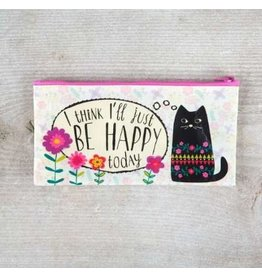Natural Life Zip Pouch Be Happy
