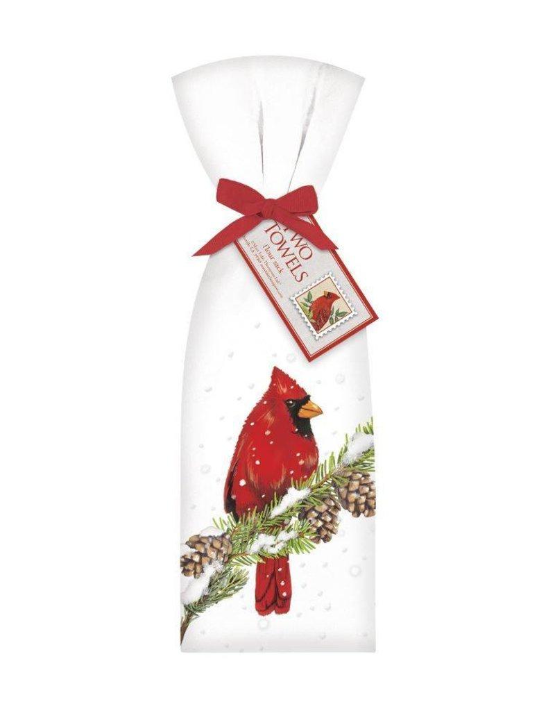 Cardinal on Pine Towel Set