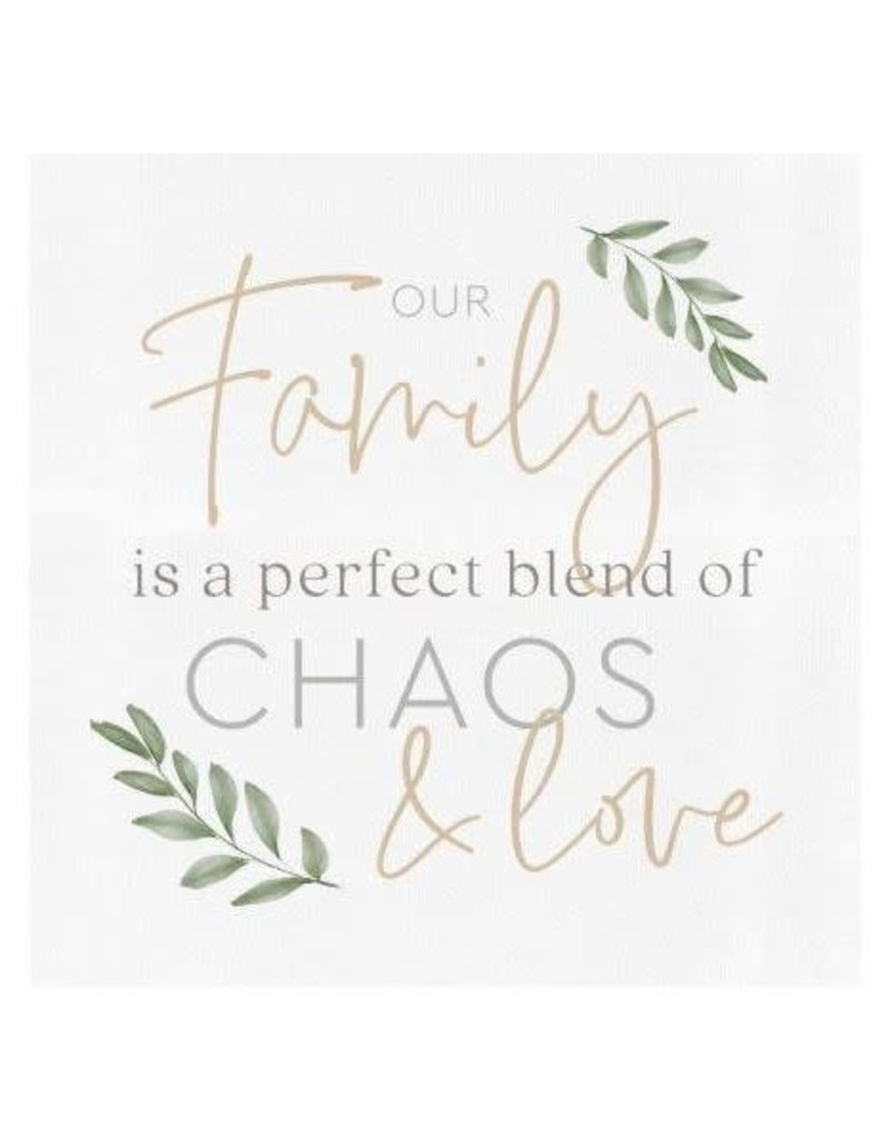 P. Graham Dunn Our Family.. Perfect Blend of Chaos & Love Canvas Sign