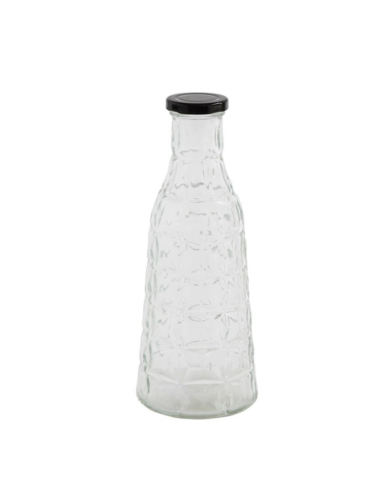 "10"" Glass Bottle With  Metal Cap"