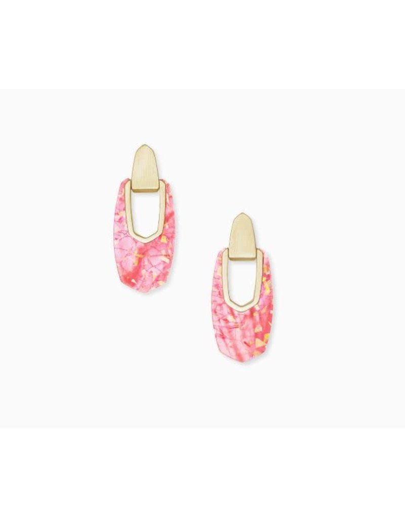 Kendra Scott Kailyn Drop Earring Gold Coral Illusion