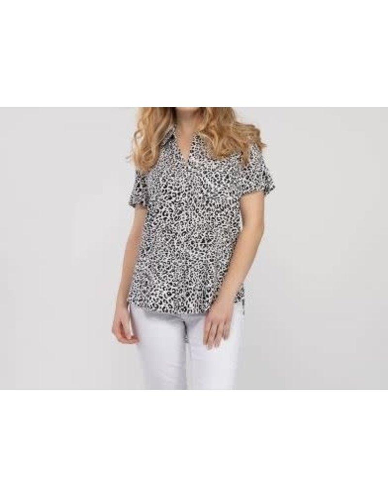 Roll Up Short Sleeve Shirt Cheetah