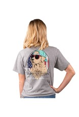 Simply Southern Tees Freedom Heather Grey T-Shirt