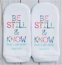 Standing On The Word Socks Be Still & Know Socks