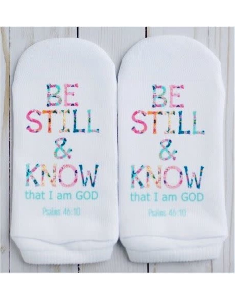 Standing On The Word Socks Be Still & Know Socks