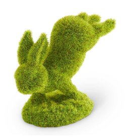 "K & K Interiors, Inc. 5"" Moss Bunny Standing on Front Feet"