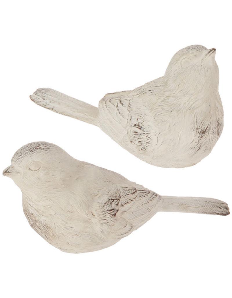 White Wash 5in Bird