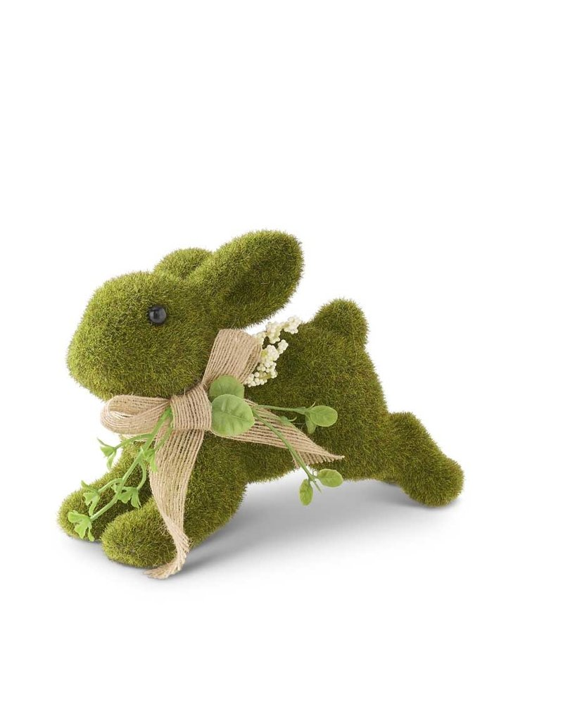 K & K Interiors, Inc. Leaping Green Moss Bunny