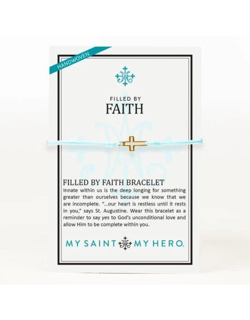 My Saint My Hero Filled By Faith Bracelet Gold Mint