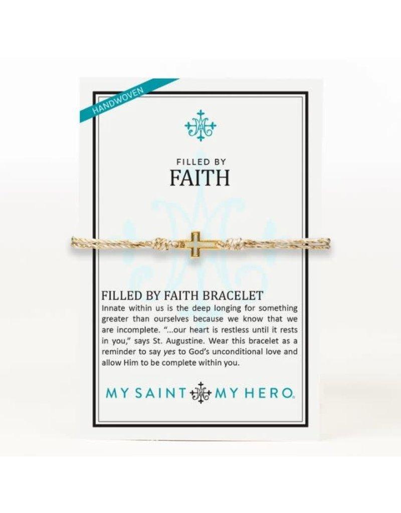 My Saint My Hero Filled By Faith Bracelet Metallic Gold