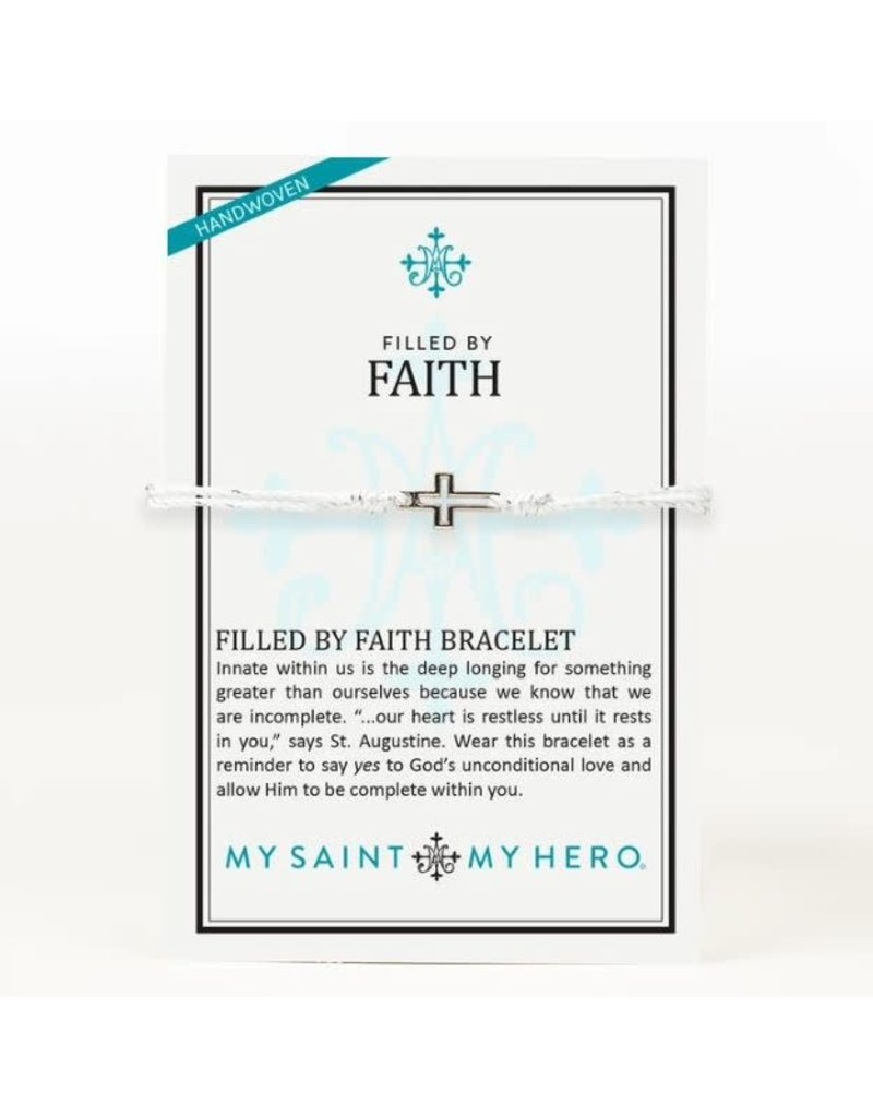 My Saint My Hero Filled By Faith Bracelet Metallic Silver