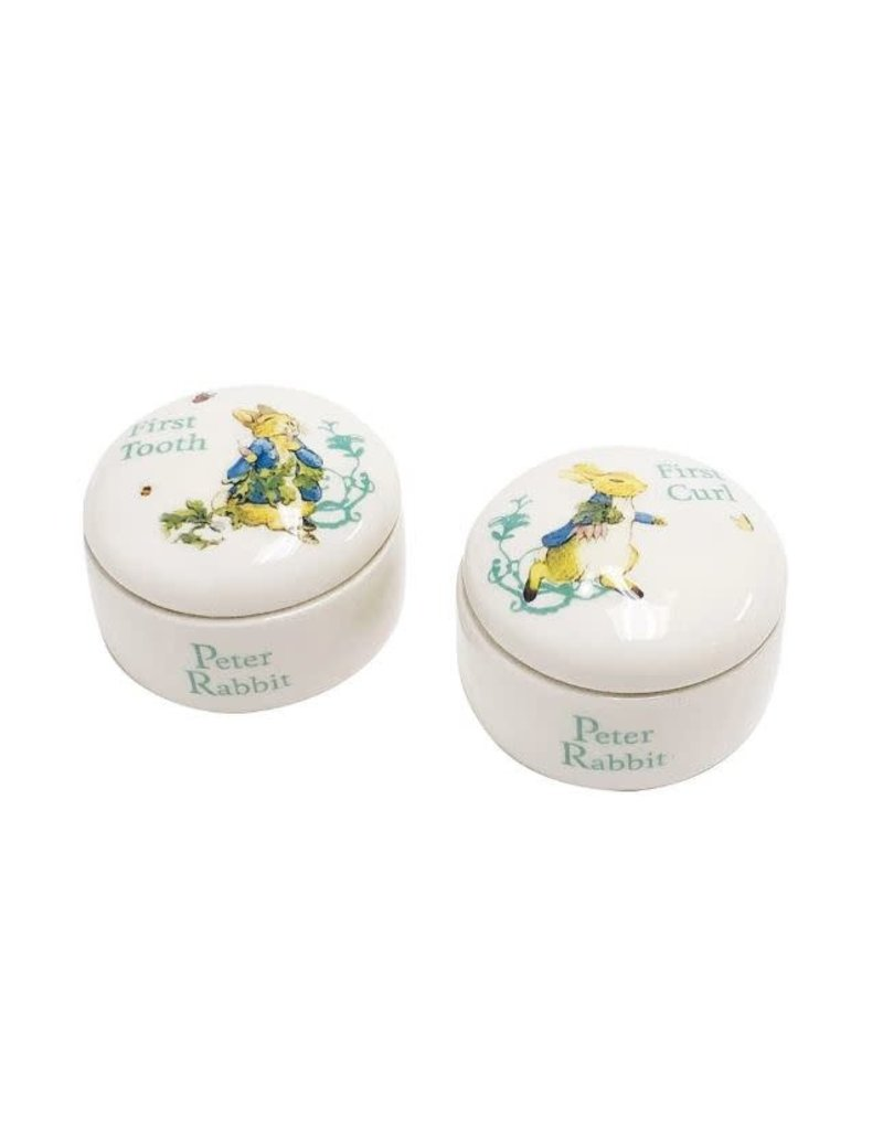 Enesco Peter Rabbit Tooth and Curl Box