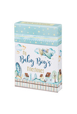 Christian Art Gifts Baby Boy's Milestones Card Box