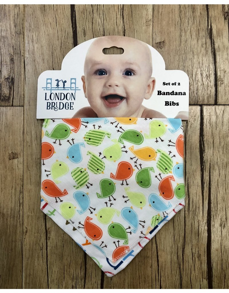 Birds/Alphabet Bandana Bib Set