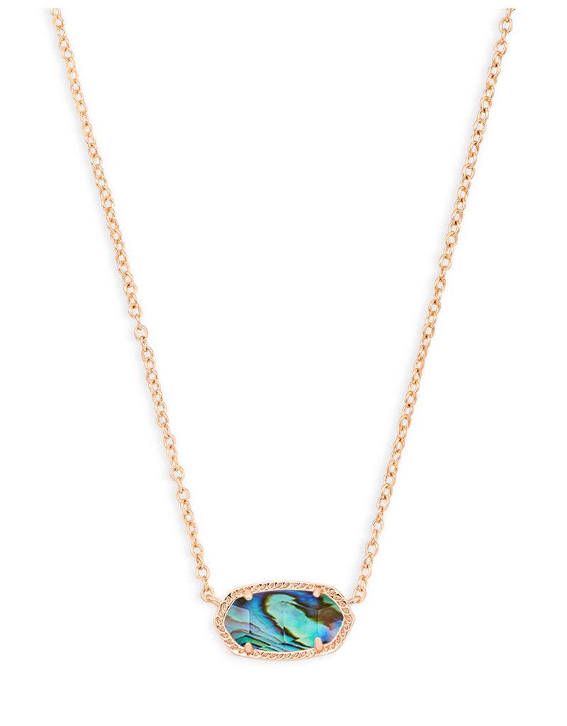 Kendra Scott Elisa Necklace Rose Gold Abalone Shell
