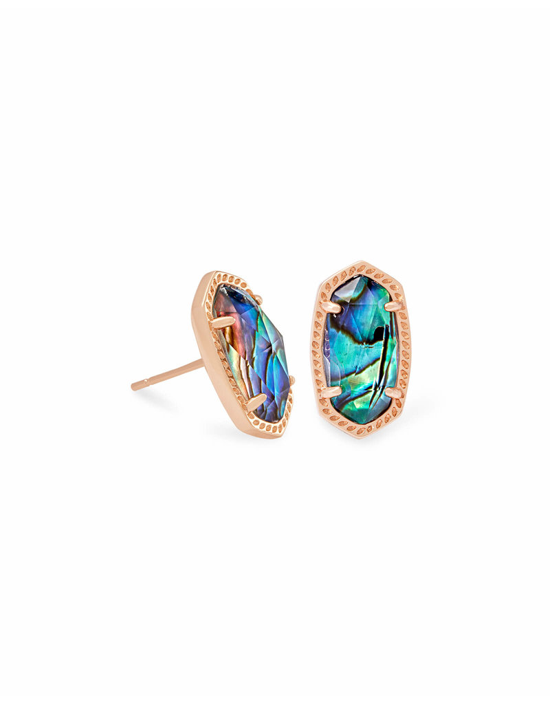 Kendra Scott Ellie Earring Rose Gold Abalone Shell