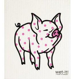 Wet-It Swedish Treasures Wet-It Cloth Polka Pig