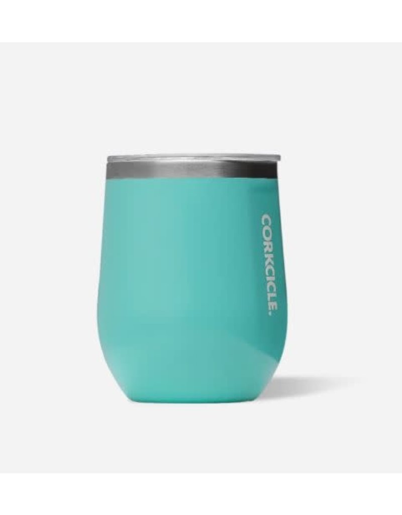 Corkcicle Gloss Turquoise 12oz Stemless