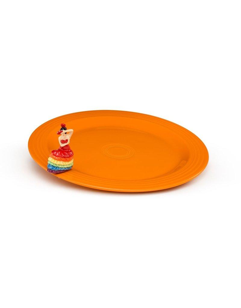 Nora Fleming, LLC Fiesta Round Platter & Dancing Lady Mini