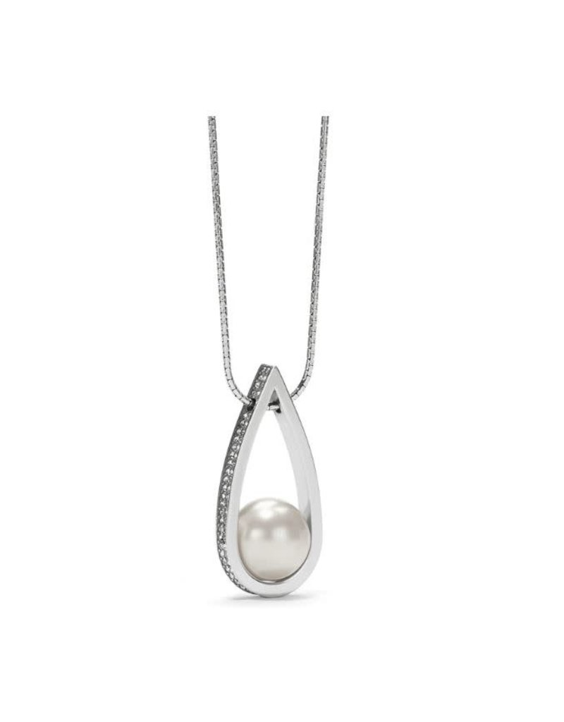 Brighton Chara Ellipse Spin Long Necklace Pearl