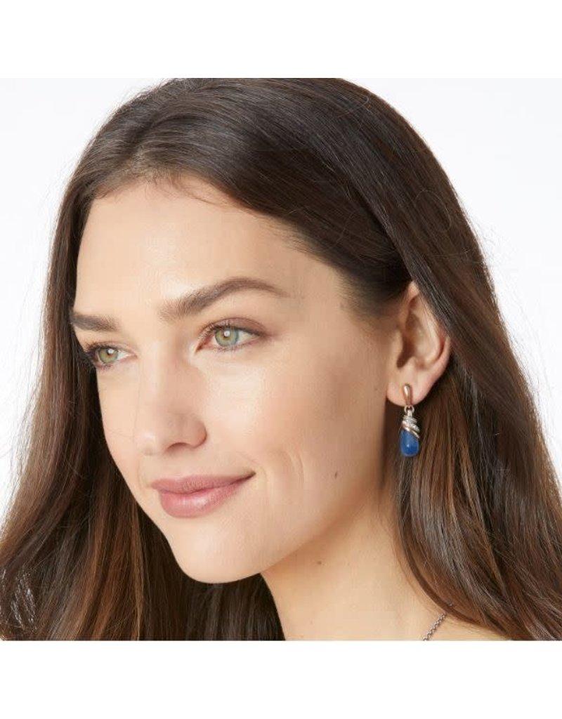 Brighton Neptune's Rings Teardrop Earrings Brazil Blue Quartz