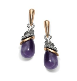 Brighton Neptune's Rings Teardrop Earrings Amethyst