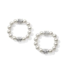 Brighton Meridian Petite Hoop Drop Earrings Pearl