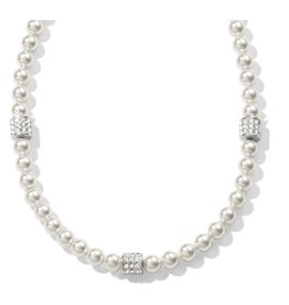 Brighton Meridian Petite Station Necklace Pearl