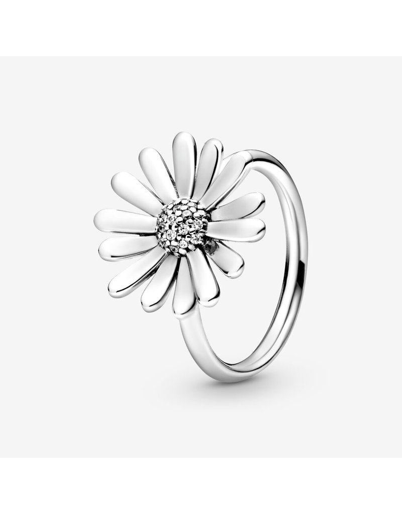 Pandora Jewelry Ring Pave Daisy Flower Statement, Clear CZ