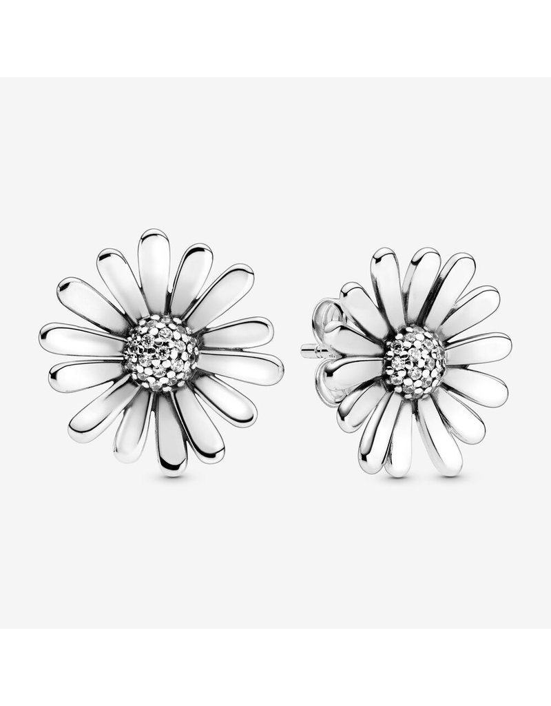 Pandora Jewelry Earring Pave Daisy Flower Statement, Clear CZ