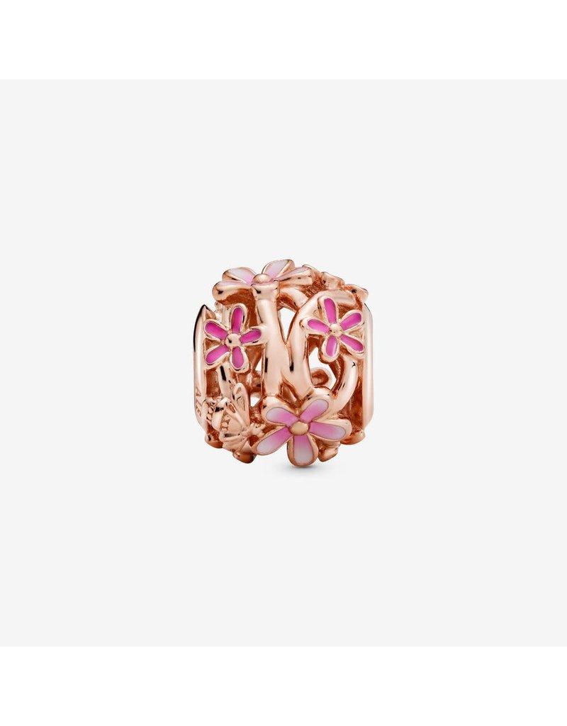 Pandora Jewelry Openwork Pink Daisy Flower Charm