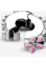 Pandora Jewelry Pink Daisy Flower Clip Charm
