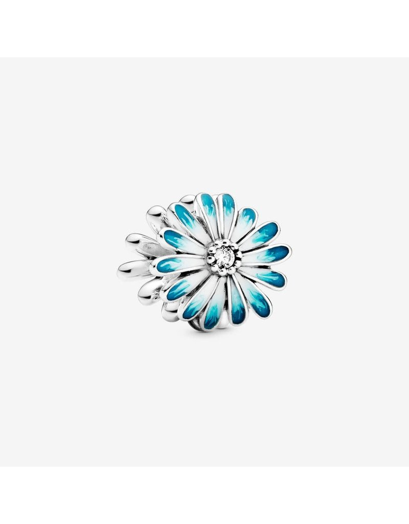 Pandora Jewelry Blue Daisy Flower Charm