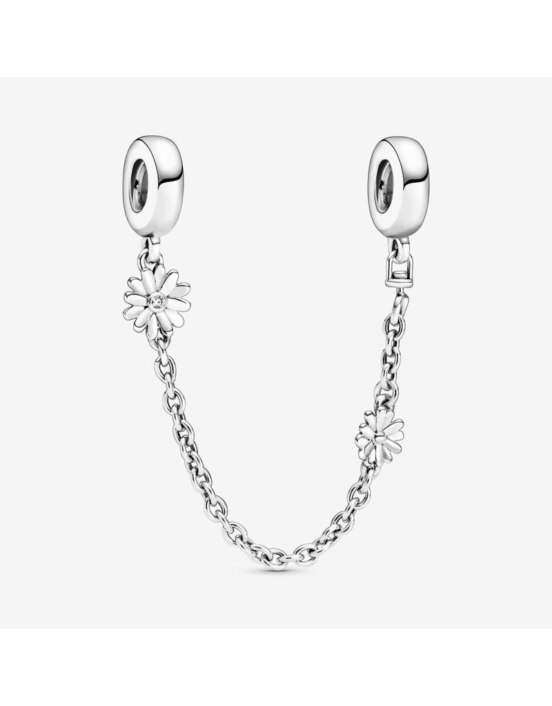 Pandora Jewelry Safety Chain Daisy Flower