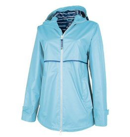 Charles River Apparel New Englander Rain Jacket w/ Striped Lining