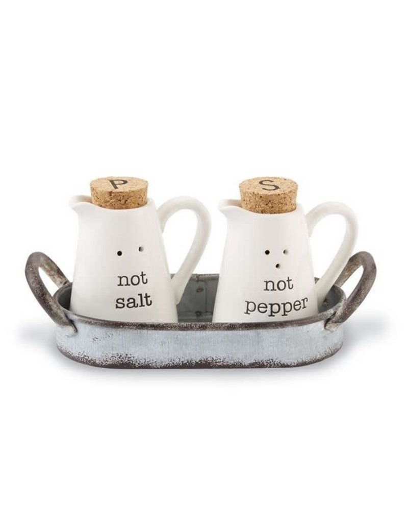 Mud Pie Salt & Pepper in Caddy