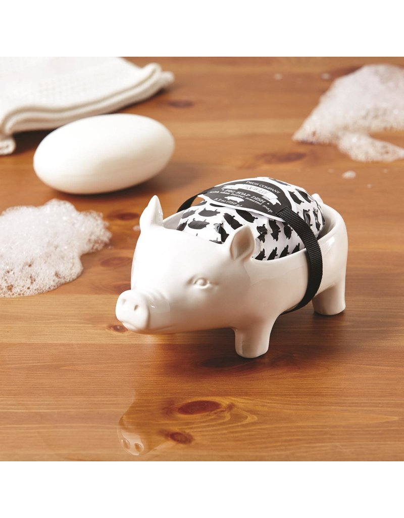 Pig Soap Dish With Shea Butter Soap