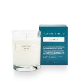 Magnolia Home Restore Boxed Glass Candle