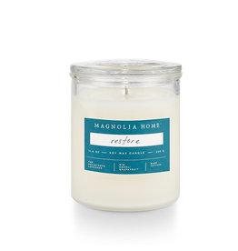 Magnolia Home Restore Glass Jar Candle