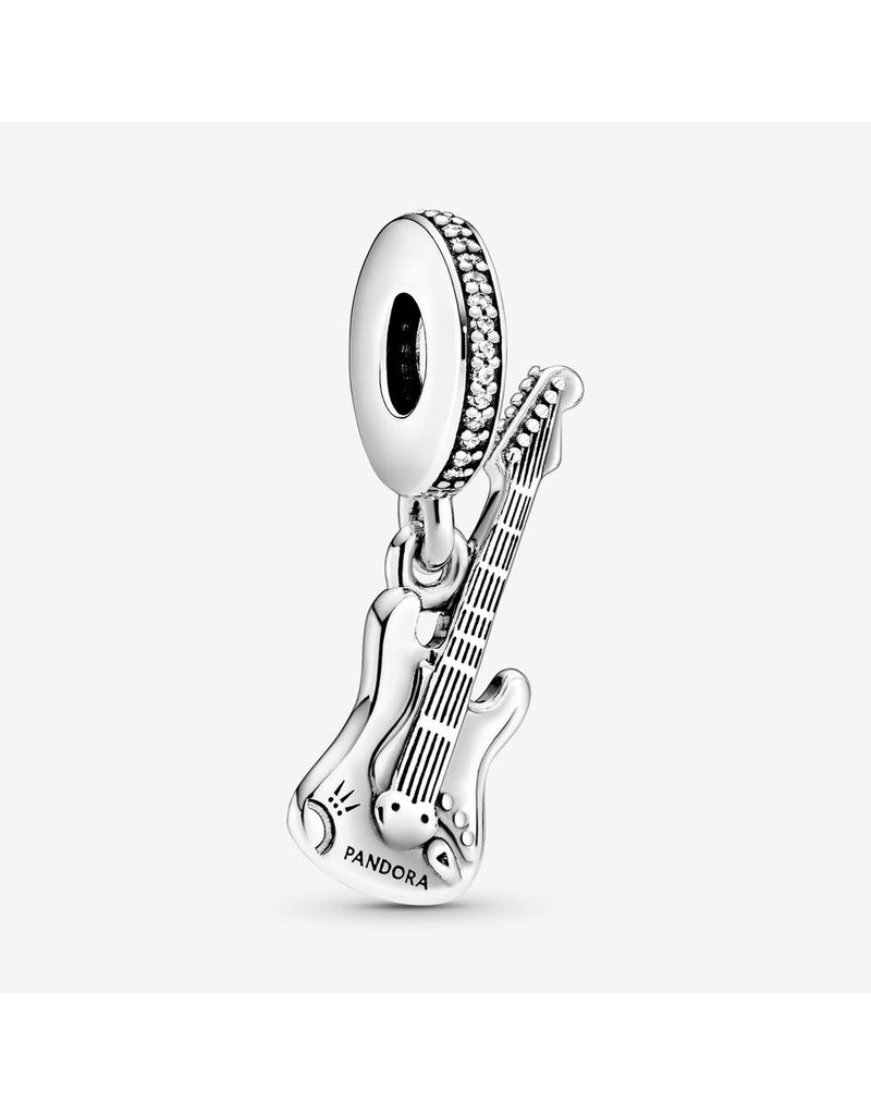Pandora Jewelry Dangle Electric Guitar, Clear CZ