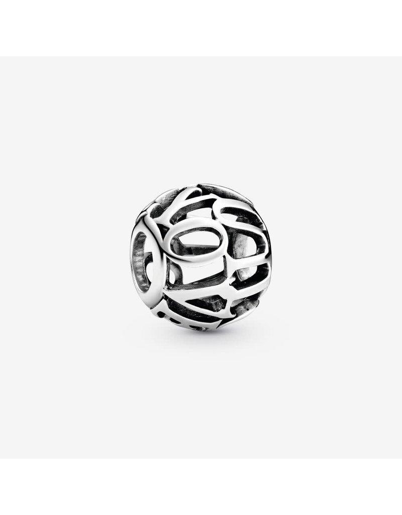 Pandora Jewelry Charm Openwork I Love You Script