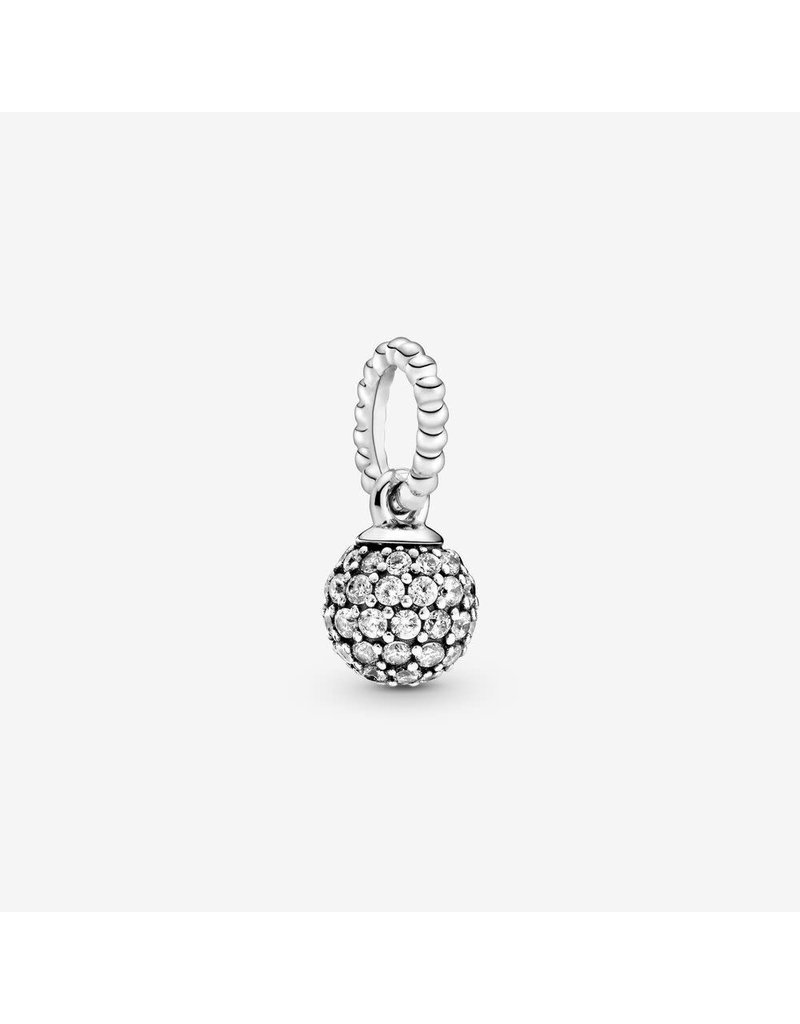Pandora Jewelry Pendant Pave Ball, Clear CZ