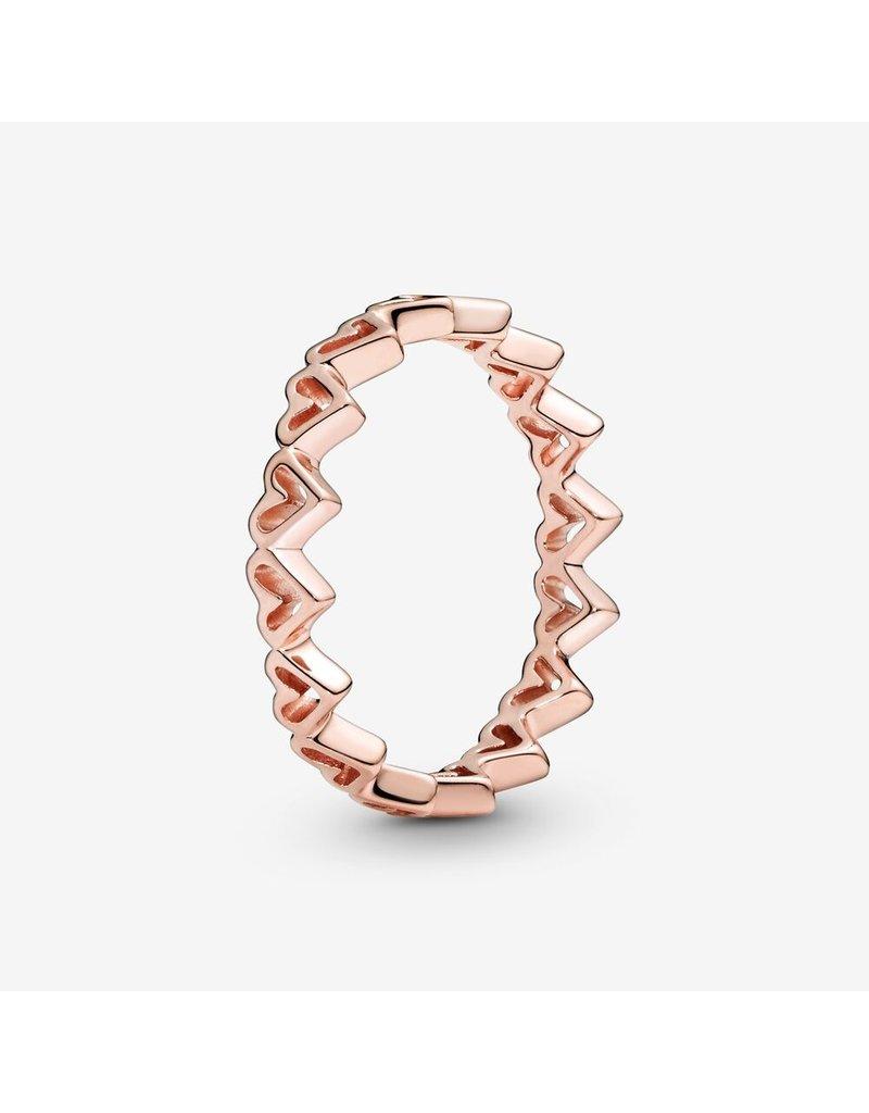 Pandora Jewelry Ring ROSE Freehand Hearts
