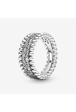 Pandora Jewelry Ring Beaded Pave, Clear CZ