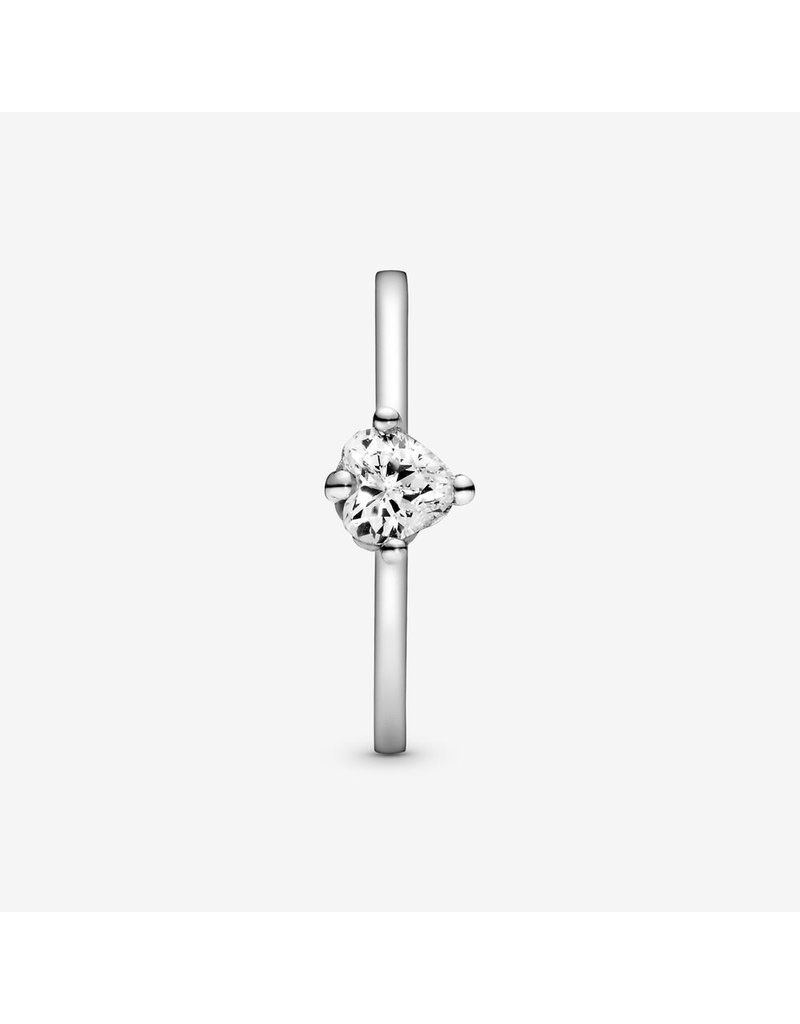Pandora Jewelry Ring Heart Solitaire, Clear CZ